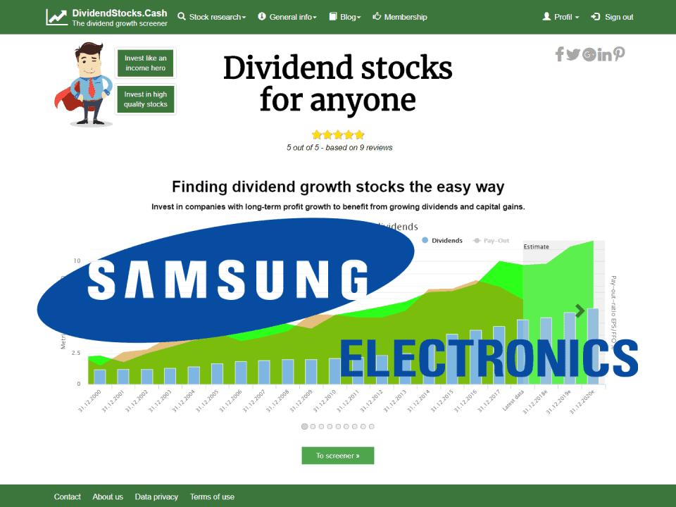 DividendstocksCash Samsung