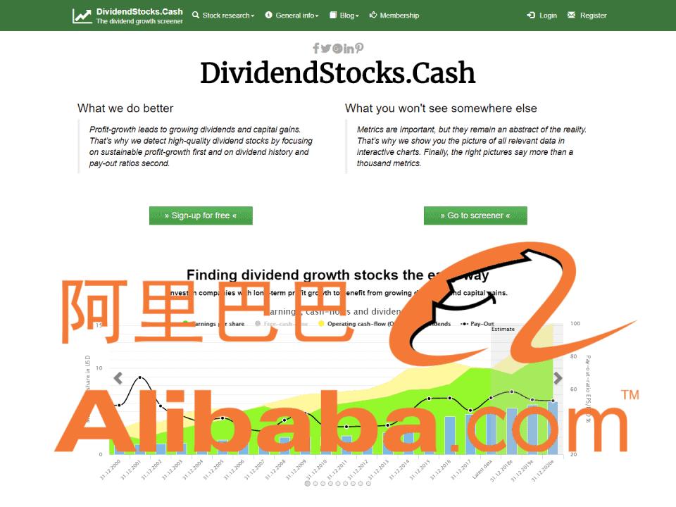 DividendStocksCash Alibaba