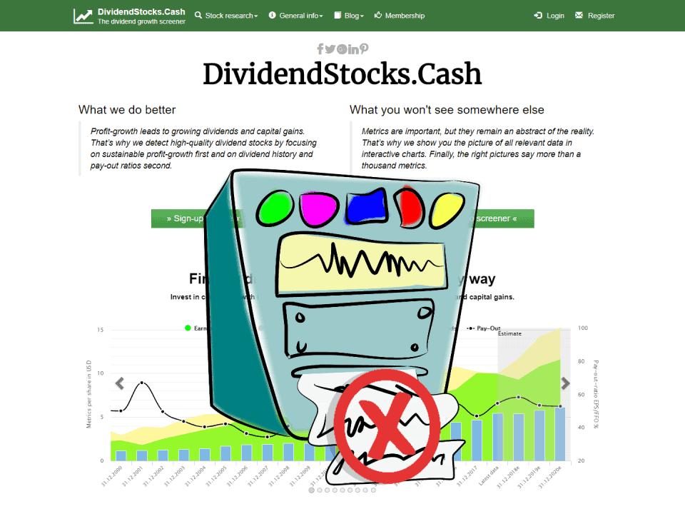 DividendStocksCash Badly Calculated Metrics