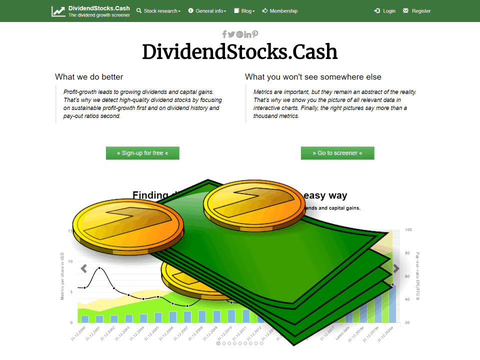 DividendStocksCash Stock Screener