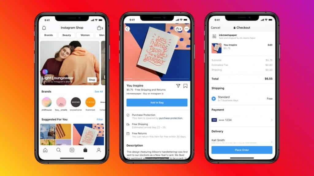 Introduction of Facebook shops